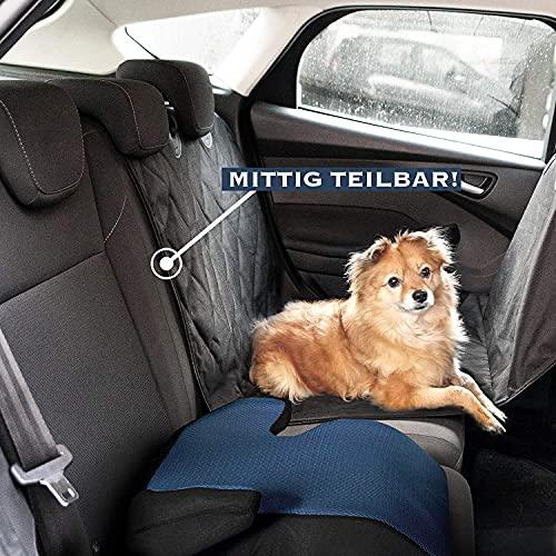 Heldenwerk Hunde decke Auto Rückbank mit Seitenschutz Hund Rücksitz teilbar - Hunde Autodecke