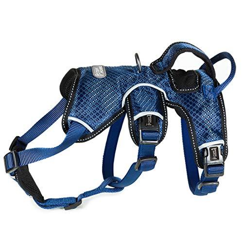 HEI SHOP No-Pull Hund Sicherheit Brustgeschirr Verstellbar Weste Geschirr Reflektierend Sport Sicherheitsgeschirr Atmungsaktiv Autogeschirr für Mittlere und Große Hunde