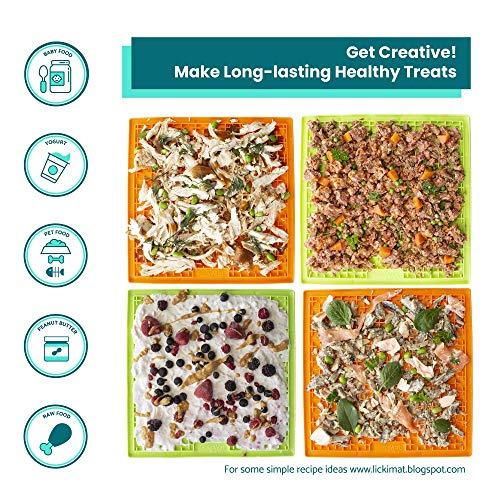 Procyon Hundebedarf Indus2 Licki Mat Buddy Large, Leckerlimatte, Treat Mat, Einheitsgröße, Farblig Sortiert: Grün oder Orange