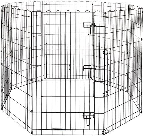 Amazon Basics – Faltbares Metall-Gehege, für Haustier, Hund, Trainingszaun, 152,4 x 152,4 x 106,6 cm