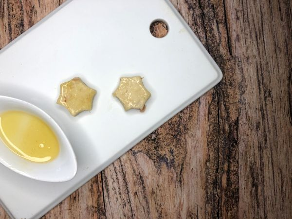 Thunfischkekse mit Apfel  und Honigglasur